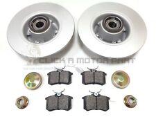 RENAULT MEGANE MK2 02-08 REAR BRAKE DISCS PADS ABS RINGS & WHEEL BEARING