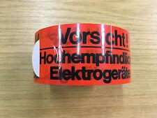 """Warnband """"Vorsicht Hochempfindliche Elektrogeräte"""" rot PVC-Folie 50mm x 66m 18 R"""