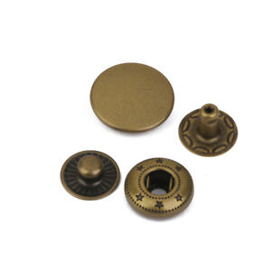 10 Heavy Duty Poppers Snap Fasteners Press Stud Sewing Leather Craft Bronze