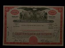 Pan American World Airways Red Stock Certificate