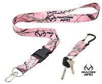 Realtree Pink Camo Lanyard With Quick Release & Carabiner Keychain Quality Made