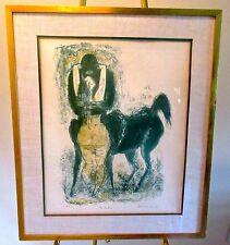 """Original SIGNED Color Lithograph by BENTON SPRUANCE-""""THE CENTAUR"""" '62- Ed35 RARE"""