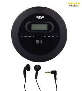 Bush Personal Portable Jog Proof CD Player, with Anti-Shock & MP3 Disc Playback