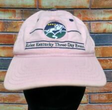ROLEX KENTUCKY THREE-DAY HORSE EVENT STRAPBACK BASEBALL CAP PINK YOUTH THE GAME