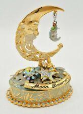 KIRKS FOLLY Trinket Box Vintage Collectible Moon Dreamer Rhinestone Crystal Rare
