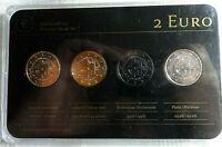 Edelmetall-Set 4x 2 Euro 2014 Slowakei 10 J. in EU OVP Zertifikat & Prägefrisch