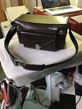 Vintage NIKON FB-17 Leather Camera Bag Case W/ Shoulder Strap