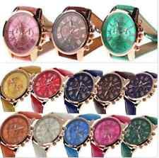 Damen Uhren Ziffern Kunstleder Analog Quarz Mode WristWatch Armbanduhr