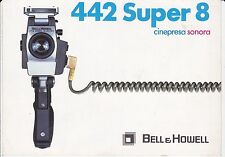ANTICO DEPLIANT - 442 SUPER 8 - CINEPRESA SONORA- BeLL &  Howell