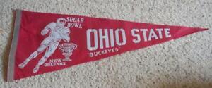 Vintage 1978 Ohio State University Buckeyes Sugar Bowl Pennant OSU Football