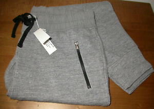 NWT James Perse Knit Joggers Sweatpants Grey Melange Womens Size 2
