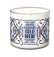 Bath and Body Works Candle White Caramel Cold Brew Scent Authentic Large 3 Wicks