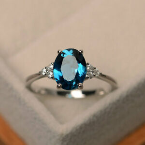 Cushion Cut 2.15 Ct Certified Aquamarine Engagement Ring Solid 14K White Gold 6