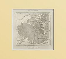 MAPPA: LAGUNE E VALLI di COMACCHIO, Delta del PO.Ferrara = In Passpartout =1883