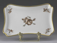 Royal Copenhagen Serving Dish Brown Rose with gilt details - Danish Porcelain
