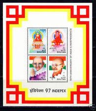 BHUTAN MNH SS, Lord Buddha & Gandhi of India for World Peace -W@