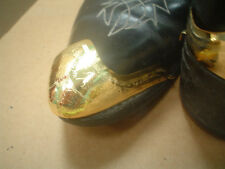 Gold Tone Boot Tips   Set   Stamped Design     GK Boots