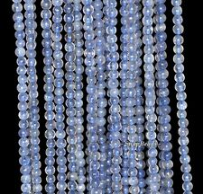 3MM BERMUDAN BLUE IOLITE GEMSTONE GRADE A BLUE ROUND 3MM LOOSE BEADS 16""