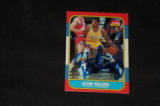 CLARK KELLOGG 1986-87 FLEER ROOKIE SIGNED AUTOGRAPHED CARD #58 PACERS