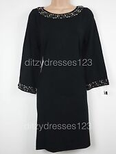 BNWT Definitions Black Jewel Embellished Jumper Dress Size 14 Stretch