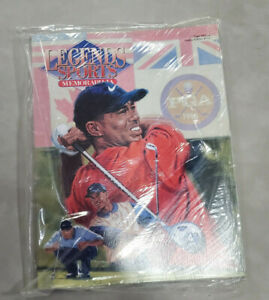 2001 Legends Sports Memorabilia Mag-Tiger Woods- Hobby Ed.112 Grand Slam Cover