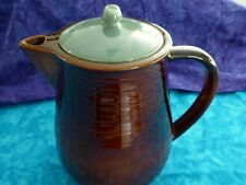 Vintage Mid Century Red Wing Pottery Village Green Coffee Pot with Lid - USA
