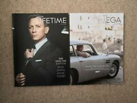2 x James Bond 007 Omega Lifetime Magazines. Spectre And No Time To Die. Rare.