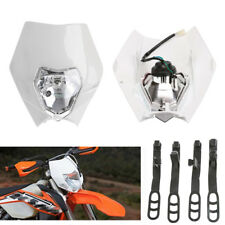 12V 35W Grimace Motorbike Dirt Bike Front Headlamp Dual Light With High/Low Beam