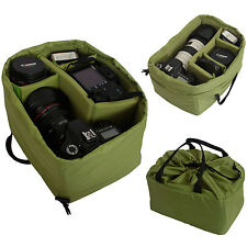 Waterproof Camera Insert Partition Padded Bag Divider Case for DSLR SLR Lens
