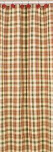 Country Lemon Pepper Shower Curtain Green, Salmon, Mustard, Tan 72x72 Cotton