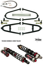 TRX 450R Chromoly Adjustable A  Arms +2 Stage 3 Shocks brake lines clamp Alba