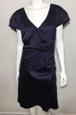 As New! ARTISAN (NZ) Purple sateen formal wrap look Dress ~ Size 20