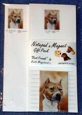 New American Staffordshire Bull Terrier List Pad Note Pad & Magnet Set Gift Pack