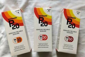 100/200ml Riemann P20 SPF 20 30 50 Once A Day Sun Cream Sunscreen Lotion & Spray