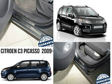 Citroen C3 Picasso 2009- Stainless Steel Door Sill Entry Guard Covers Protectors