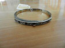 Michael Kors Silver Tone Pave Key Lock Bracelet MSRP $125