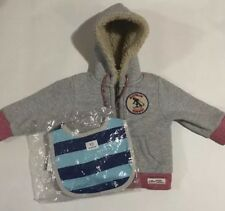 Babies Boys Country Road Heavy Jacket Size 3-6 Months & Bib BNWT 100% Authentic