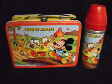 1954 Mickey Mouse Lunch Box & Excellent Thermos * Vintage * Very Rare * Lunchbox