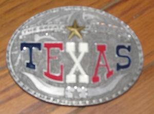 """Vintage Metal Belt Buckle """"The Great State of Texas"""" Lonestar Steer Cattle 1999"""