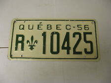 1956 56 Quebec Canada License Plate R10425