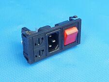 Ein Aus Taster Schalter mit  Steckdose und 2 Sicherungen Fuse Inkl. MwSt.