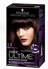 Black Schwarzkopf Color Ultime Permanent Hair Color Cream 1.3 Black Cherry