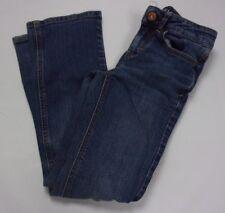 PSNY Girls Blue Denim Jeans Size 8S Stretch Straight Leg Medium Wash