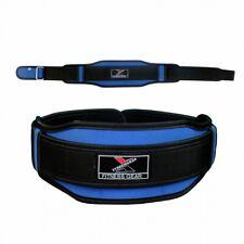 "Neoprene Weight Lifting Belt Back Support Gym Training 5"" Wide Blue Black BT8"