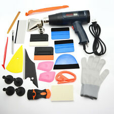 Pro 110V Heat Gun and Vinyl Tint Tools Squeegee Magnets Kit for Car Wrapping US