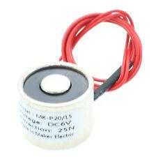P20/15 DC6V 2.5kg 5.5LB Electric Lifting Magnet Holding Electromagnet Solenoid