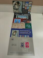 6 United Nations Stamps Souvenir Folders (Stamps Included) 1968,1969