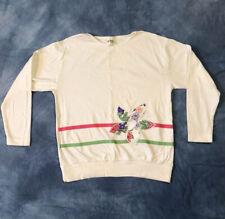 Vintage 80s 90s Long Sleeve Floral Shirt Cute Flower Pattern