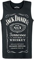 Jack Daniel Mens Old No.7 BRAND Logo Vest Black Small