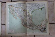 Antiguo carta Atlas universal Geografía - 1919 - Nº67 - México - Hachette